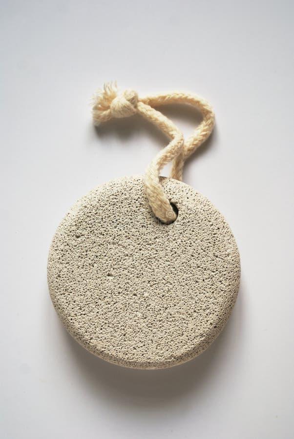 Piedra de piedra pómez en cuerda imagen de archivo