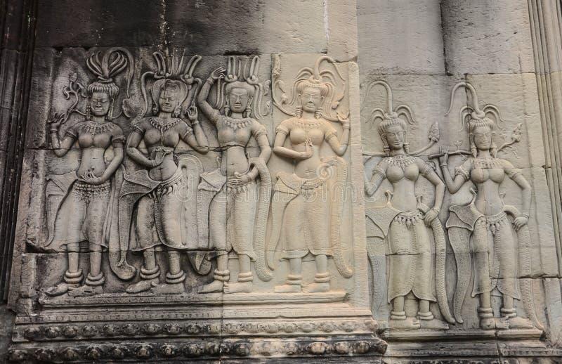 Piedra del bailarín de Apsara imágenes de archivo libres de regalías