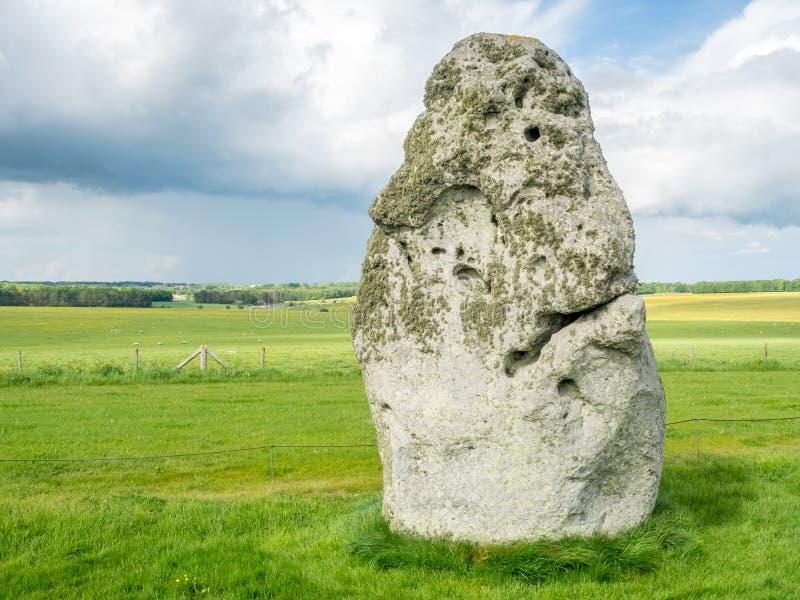 Piedra del talón en Stonehenge foto de archivo