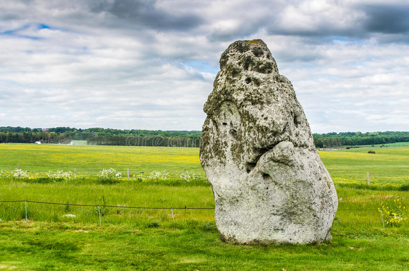 Piedra del talón en Stonehenge foto de archivo libre de regalías