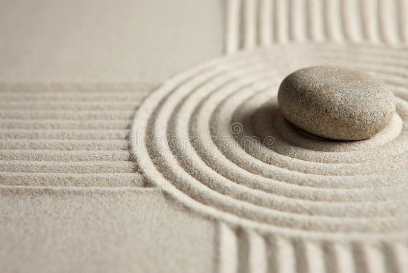 Piedra del zen fotografía de archivo