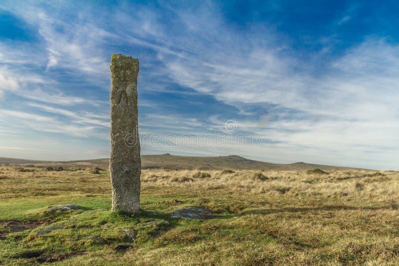 Piedra derecha de Dartmoor imagenes de archivo