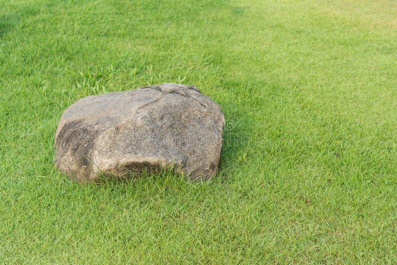 Piedra e hierba imagen de archivo
