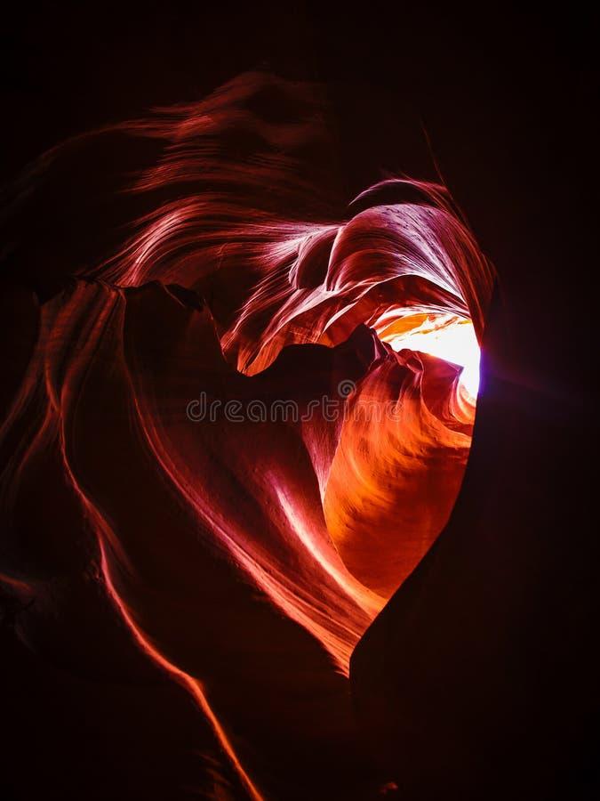 Piedra en forma de corazón en el barranco superior del antílope imagen de archivo libre de regalías