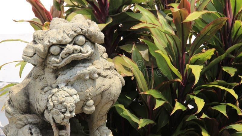 Piedra Lion And Leaves fotografía de archivo libre de regalías