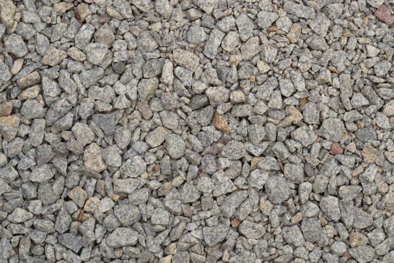 Piedra machacada, material del camino, piedra-hoyo fotografía de archivo libre de regalías