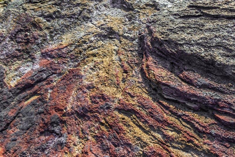 Piedra natural del origen volcánico, foto de archivo
