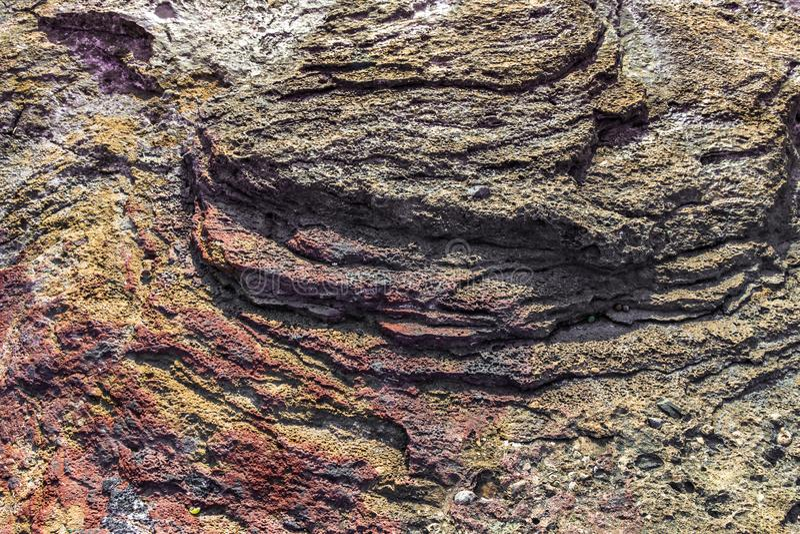 Piedra natural, superficie de la roca, origen volcánico imágenes de archivo libres de regalías