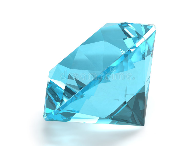 Piedra preciosa azul del topaz foto de archivo libre de regalías