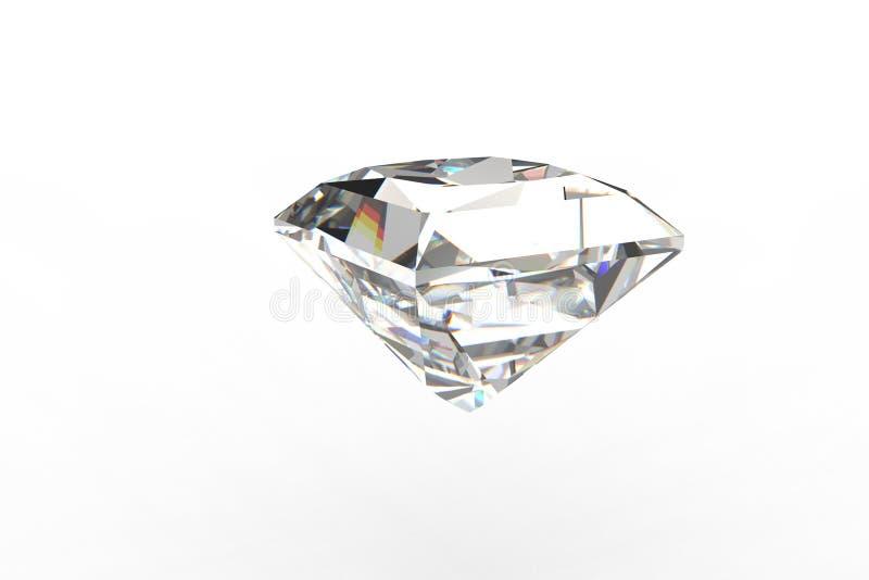 Piedra preciosa cuadrada grande del diamante stock de ilustración