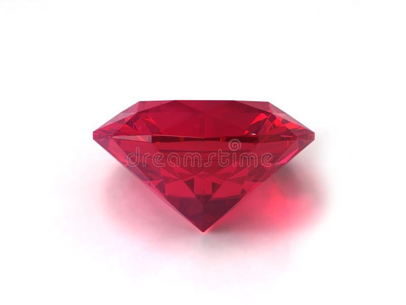 Piedra preciosa de rubíes imagen de archivo
