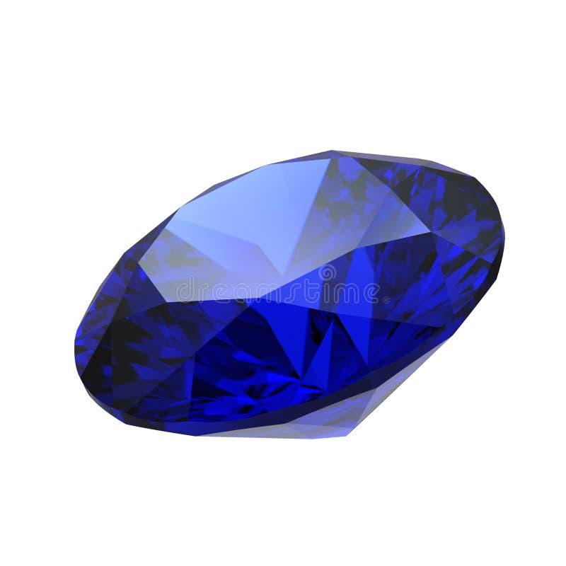 Piedra preciosa del zafiro ilustración del vector