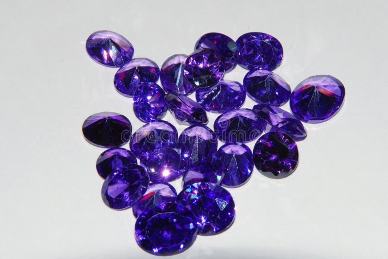 Piedra preciosa floja amethyst púrpura fotos de archivo libres de regalías