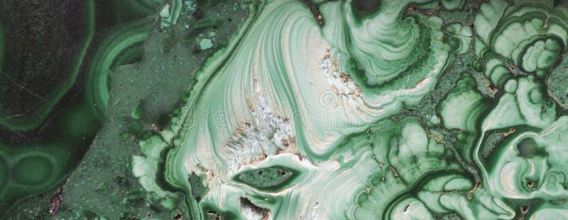 Piedra preciosa mineral verde de la malaquita fotografía de archivo libre de regalías