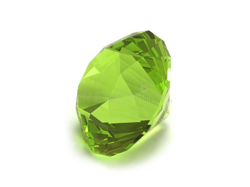 Piedra preciosa verde ilustración del vector