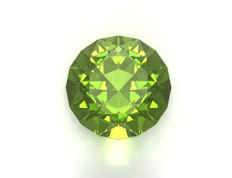 Piedra preciosa verde imagen de archivo