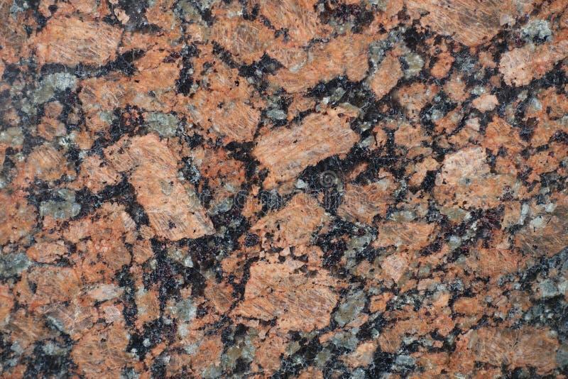 Piedra pulida del negro, rosada y gris del granito imagen de archivo