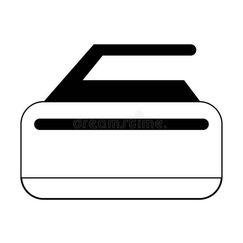 Piedra que se encrespa del deporte extremo del invierno en blanco y negro ilustración del vector
