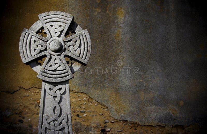 Piedra sepulcral céltica fotos de archivo