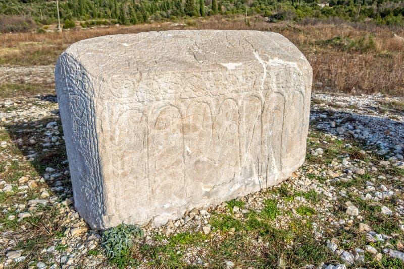 Piedra sepulcral medieval de Stecak fotografía de archivo libre de regalías