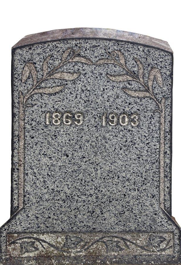 Piedra sepulcral sin nombre vieja imágenes de archivo libres de regalías