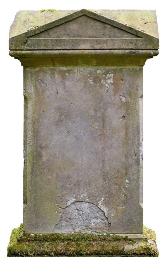 Piedra sepulcral vieja fotos de archivo