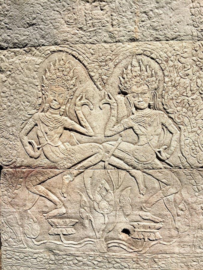 Piedra tallada en Tailandia imagen de archivo