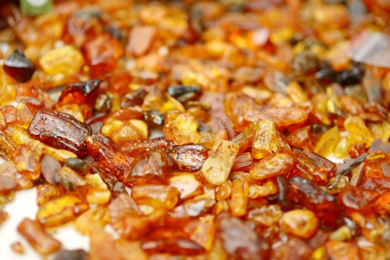Piedras ambarinas de la playa del mar Báltico foto de archivo
