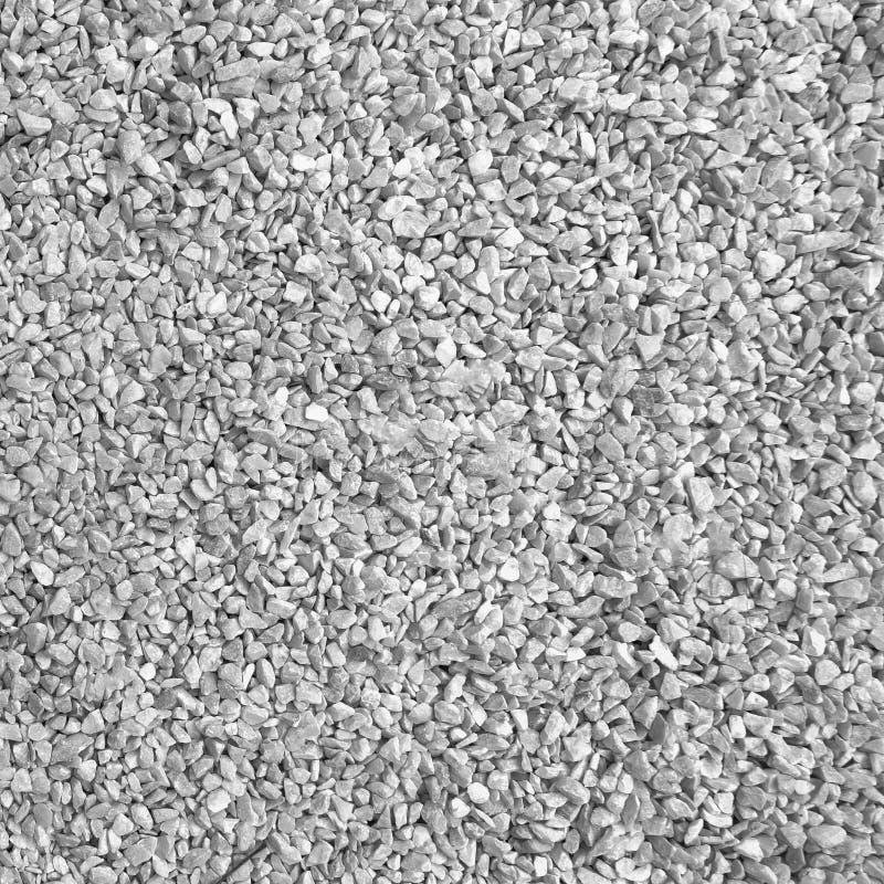 Piedras blancas de la grava del granito que suelan textura de la superficie del modelo Primer del material exterior para el fondo imagenes de archivo