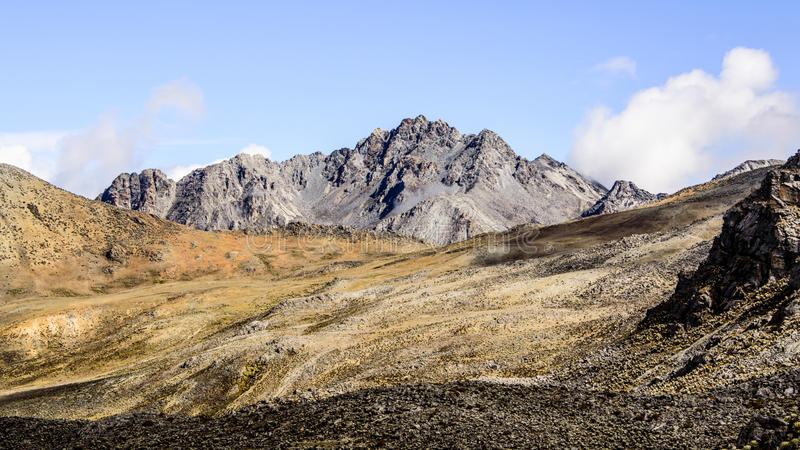 Piedras Blancas. The highest peak in La Culata National Park royalty free stock image