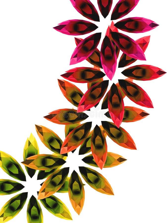 Piedras coloridas 3 ilustración del vector