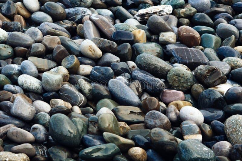 Piedras coloridas mojadas Imagen de fondo natural hermosa imagen de archivo