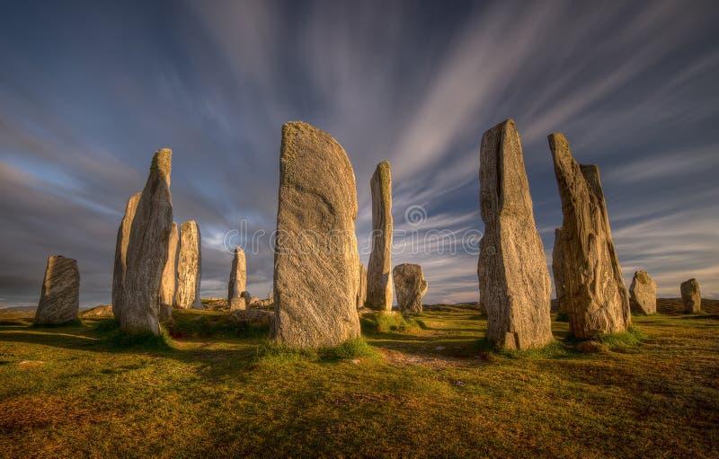 Piedras de Callanish imagen de archivo
