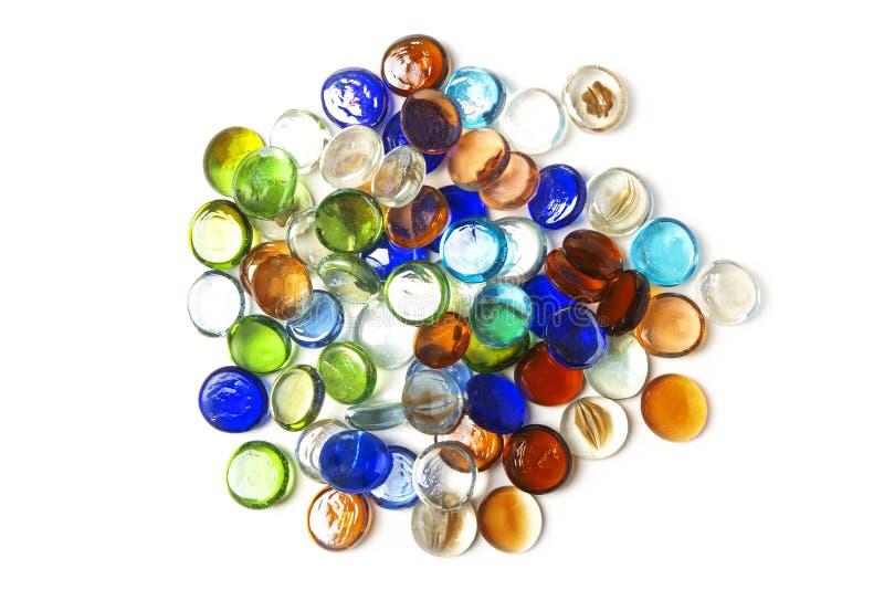 Piedras de cristal multicoloras fotos de archivo