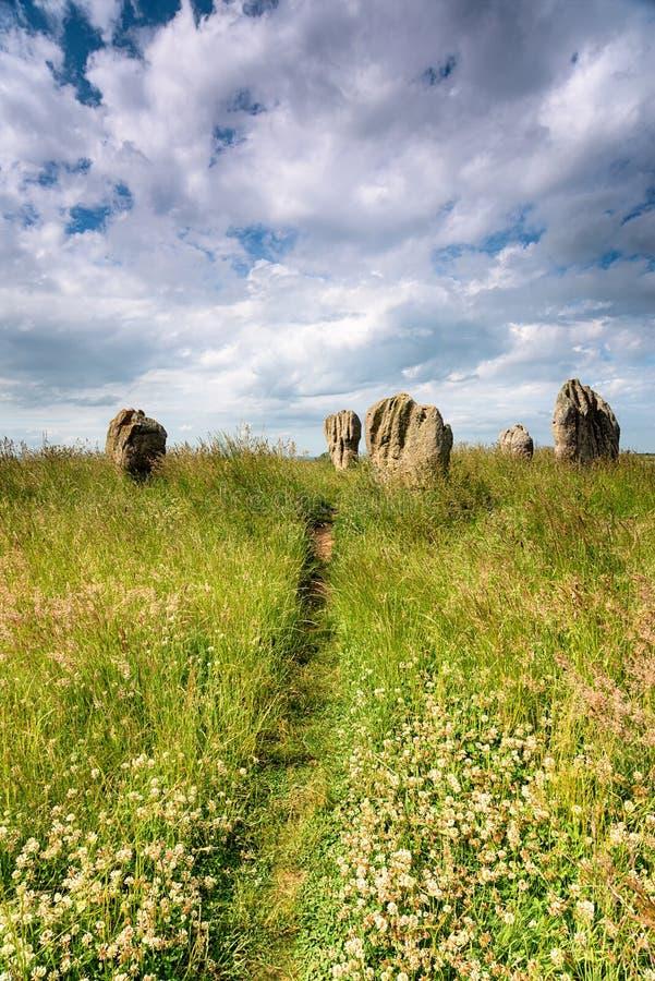 Piedras de Duddo fotografía de archivo