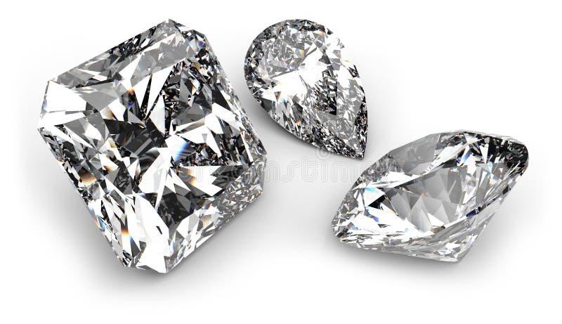 Piedras de gema stock de ilustración