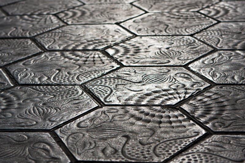 Piedras de la acera - Barcelona imagen de archivo libre de regalías