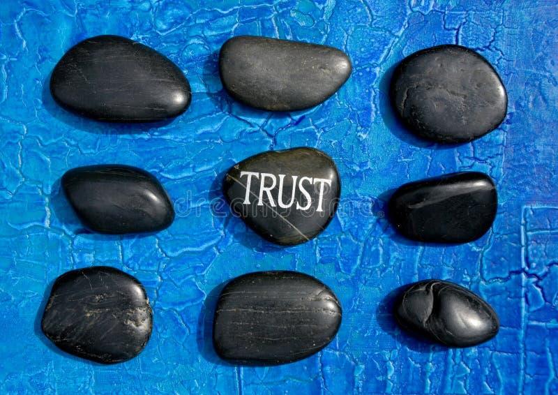 Piedras de la confianza imágenes de archivo libres de regalías