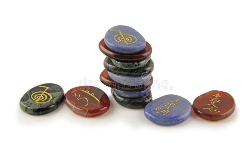 Piedras de la cura Reiki imagenes de archivo