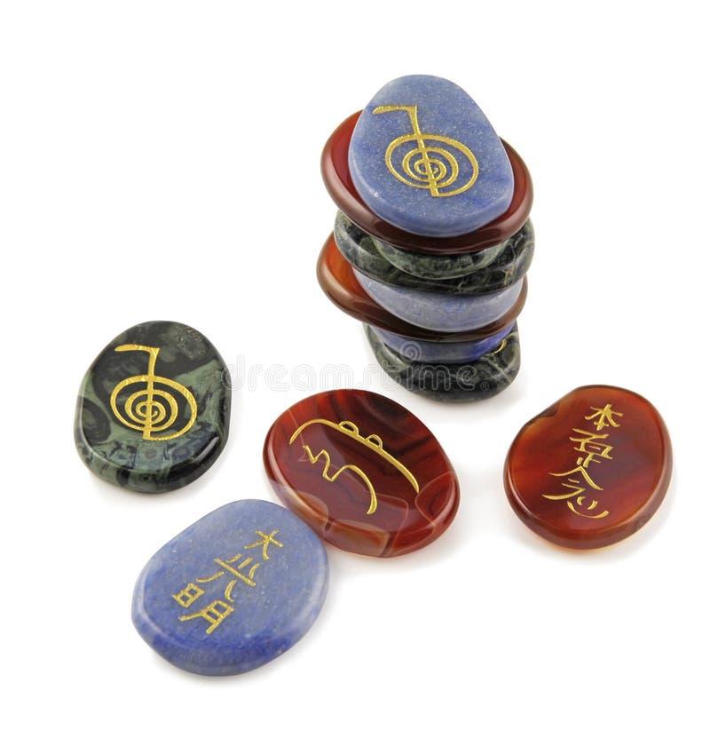 Piedras de la meditación de Reiki foto de archivo