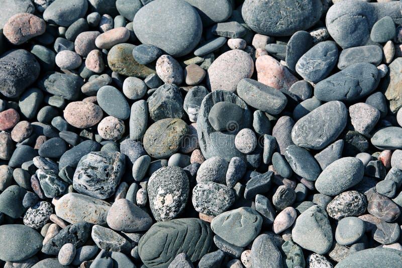Piedras de la playa, rocas, guijarros foto de archivo