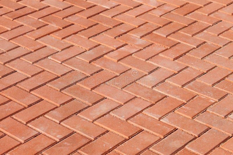 Piedras de pavimentación rojas imagen de archivo