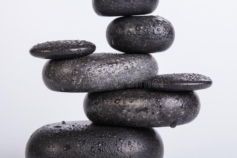 Piedras del BALNEARIO aisladas en blanco imagen de archivo