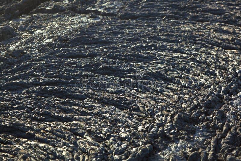 Piedras del flujo volcánico foto de archivo