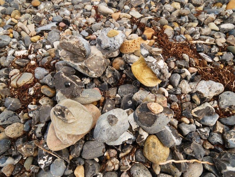 Piedras del mar para el diseño Fondo abstracto con los guijarros fotos de archivo