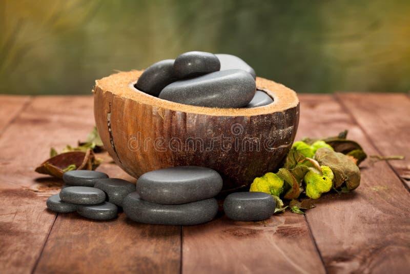 Piedras del masaje imagenes de archivo