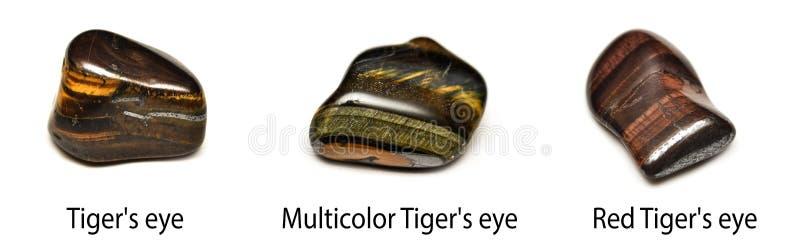 Piedras del ojo del tigre imagen de archivo