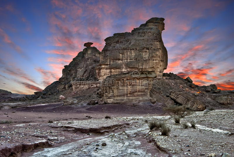 Piedras del parque de Timna imagen de archivo libre de regalías