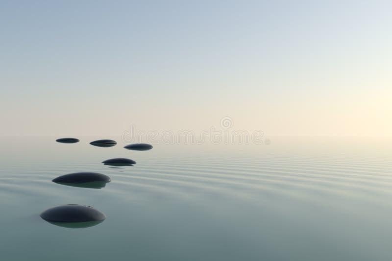 Piedras del zen ilustración del vector