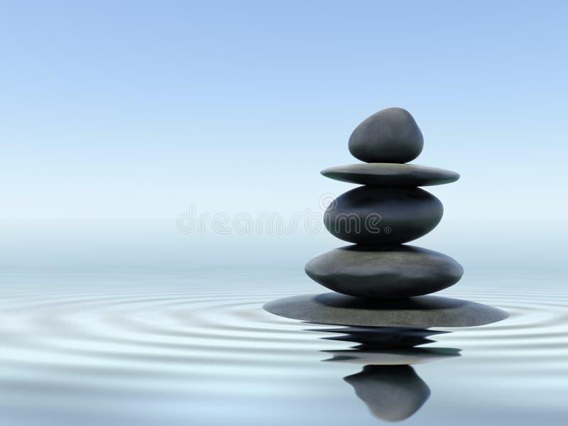 Piedras del zen foto de archivo